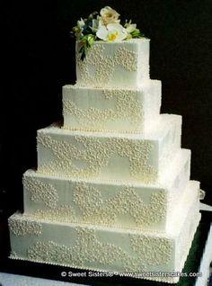 Let us help you design your wedding cake. #dessert #weddingcake #cake #wedding #bride #SweetSisters