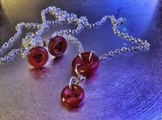 Unique Red Three Hole Cute as a Button Necklace by CuteasaButton76