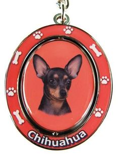 "Chihuahua, Black and Tan Key Chain ""Spinning Pet Key Chains""Double Sided Spinning Center With Chihuahuas Face Made Of Heavy Quality Metal Unique Stylish Chihuahua Gifts - http://www.thepuppy.org/chihuahua-black-and-tan-key-chain-spinning-pet-key-chainsdouble-sided-spinning-center-with-chihuahuas-face-made-of-heavy-quality-metal-unique-stylish-chihuahua-gifts/"