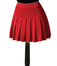 Plus Size Short Red skirt suits | ... dress Pleated red women's ...