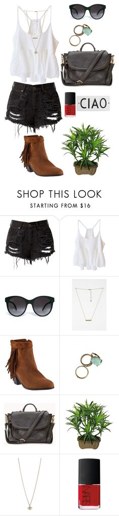 """""""#37"""" by numb-h3art ❤ liked on Polyvore featuring BLACK CRANE, Illesteva, Urban Outfitters, Sam Edelman, Forever 21, Minor Obsessions, NARS Cosmetics and Rosanna"""