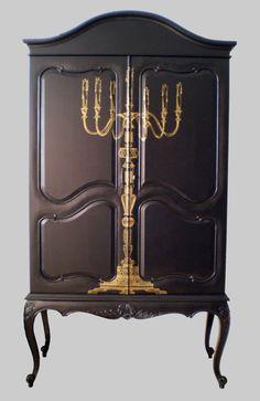 Candelabra cabinet (wardrobe) by Jimmie Martin.