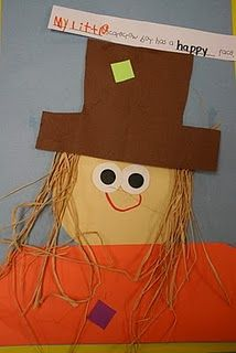 With Margaret Wise Brown book, Little Scarecrow Boy... great lesson