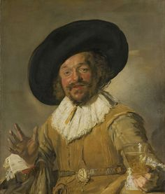 This cheery young man is raising his glass as if to propose a toast. Although the fashion was then for intricate, detailed paintings, Hals applied his paints with quick, confident strokes. This style of painting gives the subject a real sense of movement. This is most obvious with the right hand. The merry drinker, Frans Hals, ca. 1628 - ca. 1630.