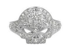 Harley Davidson Women's Skull Bling Ring HDR0262 | eBay