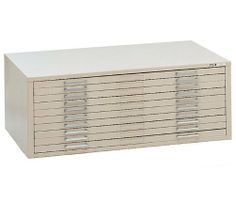"""Mayline C-Files 10 Drawer Metal Flat Files Cabinet for 36"""" x 48"""" Documents - Gray by Mayline Group. $2137.00. Ships fully assembled. All steel reinforced construction. Accomodates 36"""" x 48"""" sheet size. Each drawer supports 100 sheets. Stacks three high. Features: Self-contained steel C-Files® have integral cap and can be bolted together for stacking. Drawers have front metal plan depressor and rear hood to keep documents flat and orderly. (Dust covers optional.) High base desig..."""