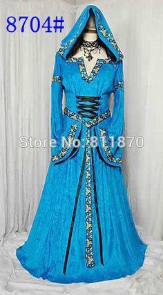 Cosplay Costume Women's Dress Hofadel Renaissance Medieval Evening Dress Robe Gown Long Skirt