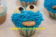The Cookie Monster...  www.lisabscupcakes.com