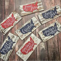 Check out our patriotic decoration selection for the very best in unique or custom, handmade pieces from our shops. Americana Crafts, Patriotic Crafts, July Crafts, Summer Crafts, Fourth Of July Decor, 4th Of July Decorations, July 4th, America Sign, Let Freedom Ring