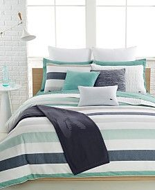 Lacoste Home Bailleul Comforter and Duvet Cover Sets - Sale Bedding Collections - Bed & Bath - Macy's Best Duvet Covers, Duvet Cover Sets, Bedding Sets Online, Comforter Sets, Comforters Bed, Lacoste, King Duvet, Bed Styling, Bed Sizes
