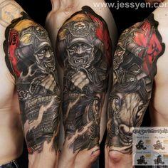 « Samurai done by @jessyentattoo using Jess Yen™ Tattoo Machine and Jess Yen Color Set by @eternalink available at www.jessyen.com »