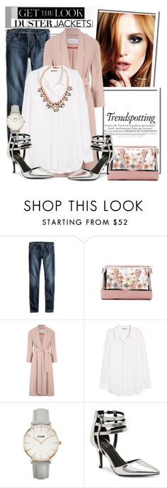 """""""So Cute: Duster Jacket..."""" by glamorous09 ❤ liked on Polyvore featuring Lucky Brand, Melissa, Betsey Johnson, H&M, Qupid, White Label, Darya London and dusterjacket"""