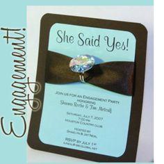 Tiffany blue wedding, cute idea for an engagement announcements