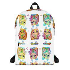 This medium size backpack is just what you need for daily use or sports activities! The pockets (including one for your laptop) give plenty of room […] Sports Activities, Are You The One, My Design, Backpacks, Pockets, Medium, Artwork, Room, Gatos