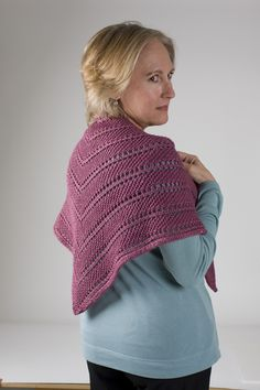 Oscilloscope Shawl - just the right amount of coverage for summer. #knitting