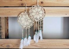 Doily-DreamCatcher.  http://www.brit.co/15-creative-diy-doily-projects-from-around-the-web/