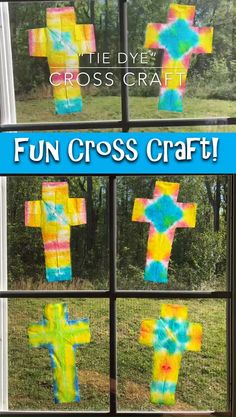 You can make these with leftover egg dye or watercolor paints! sunday school crafts for kids Fun Cross Craft For Christian Kids! Easter Crafts For Adults, Sunday School Crafts For Kids, Easter Activities For Kids, Bible Crafts For Kids, Preschool Crafts, Kids Fun, Palm Sunday Craft, Toddler Church Crafts, Good Friday Crafts