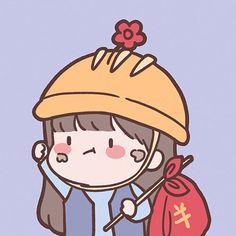 打工人情头无水印 Cute Cartoon Drawings, Cute Cartoon Girl, Baby Cartoon, Cartoon Art, Stickers Kawaii, Cute Stickers, Cute Pastel Wallpaper, Wallpaper Iphone Cute, Cute Profile Pictures