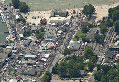 Port Dover, What happens when as many as 150,000 Motorcycle enthusiasts take over a town of 6,500 every Friday the 13th.