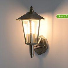 Aussenleuchte Aussenlampe Wandlampe Wandleuchte Edelstahl 601 (Wandleuchte 601A OHNE Bewegungsmelder)