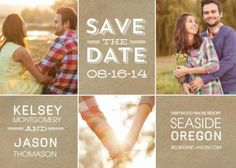 craft paper save-the-date cards starting at $0.80 #zoggin #wedding #savethedate