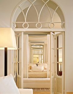 Love this idea for arched openings... then add regular French doors below.