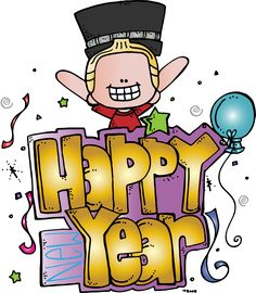 melonheadz illustrating happy new year freebie january art board decoration