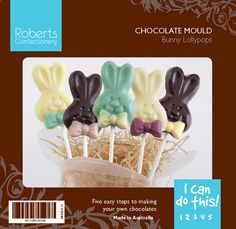 Easter Bunny Lollypop Sticks Chocolate Mould