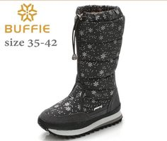 BUFFIE BRAND 2016 NEW WINTER WOMEN SNOW BOOTS HIGHT ANTISKID LIGHT FASHION GRIL WINTER BOOTS ZIP PLUS SIZE LADY SNOW BOOTS