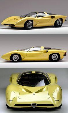1969 Alfa Romeo P33 Coupé / Pininfarina / Leonardo Fioravanti / concept / Italy / yellow http://autopartstore.pro/AutoPartStore/