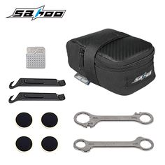 SAHOO bicycle repair tool kits bike tools 7 in 1 multi function tools tire repair hex wrench with saddle bag