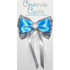Cinderella Castle Hair Bow ($10) ❤ liked on Polyvore featuring accessories, hair accessories, bows, disney, cinderella castle, silver hair accessories, antique hair accessories, hair bows, silver hair bow and bow hair accessories