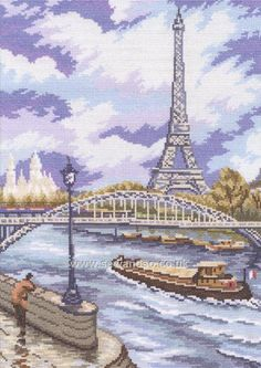 Quai de Seine Cross Stitch Kit