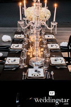 Black & White Parisian Wedding Inspiration with WeddingStar - Blackbride.com