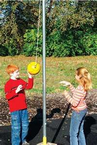 "Tether Ball. I have been 'naggin' T to look into if these are still available (like at Scheels,ect) and to put one in...I know they would play for a few days...(or maybe an hour!) and be ""Bored"" w/ it...I loved tether balll!! -kjm 2/2014"