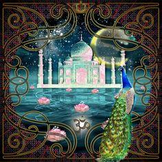 Taj Mahal Digital Art