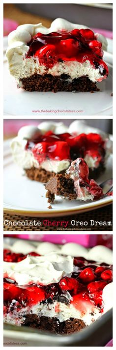 Chocolate Cherry Oreo Dream Dessert – The Baking ChocolaTess