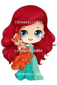 ARIEL-TREASURE chibi by crowndolls on deviantART