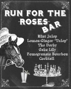 Kentucky Derby Bar Sign Cocktails Mint Julep by CreationsbyDeven