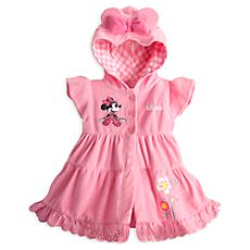 Minnie Mouse Pink Swim Cover-Up for Baby - Personalizable