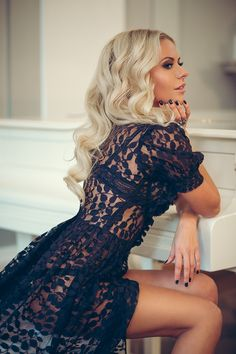 Beautiful lace robe