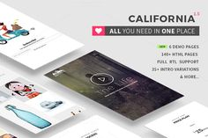 California - All in one HTML5 theme by Theme Wagon on @creativemarket