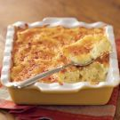 Cheddar-Chive Mashed Potatoes ; For many Americans, Thanksgiving would not be complete without a bowl of steaming mashed potatoes on the table. Families often have their own special version of this holiday side dish, which takes well to creative variations.