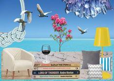 Conceito: Porto Seguro / Quarto no mezanino com inspiração mediterrânea