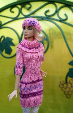 Elizaveta Chemeris - Barbie knit dress