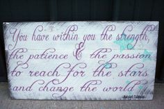 Nursery Decor Pallet Sign Distressed Wood Sign Plum and Turquoise Harriet Tubman Quote Handpainted Shabby Chic Wallhanging Rustic Sign