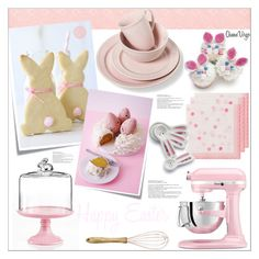 """Easter Kitchen"" by queenvirgo on Polyvore featuring interior, interiors, interior design, home, home decor, interior decorating, KitchenAid, Talking Tables, Sur La Table and Nordal"