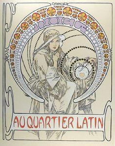 Плакат A quartier latin