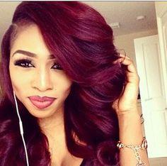#Trending : The Burgundy Hair Colour | The 5k Shop