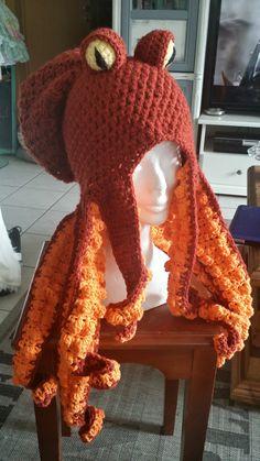 Crochet octopus hat More
